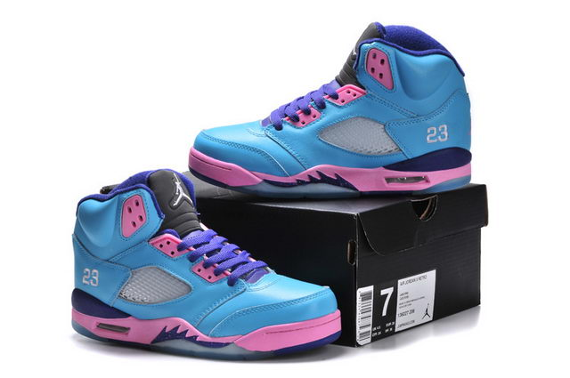 WMNS Jordan 5 Shoes blue/pink