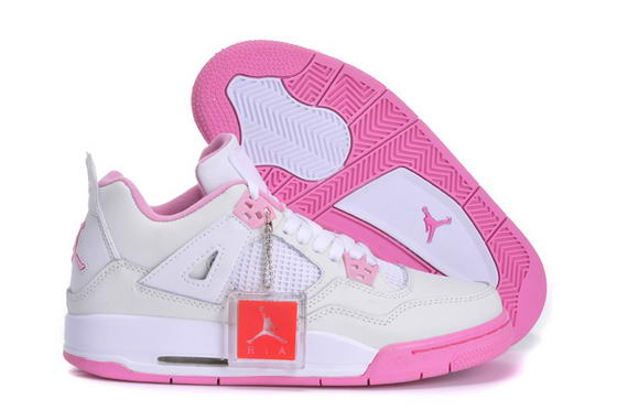 Womens Jordan 4 Shoes white/pink