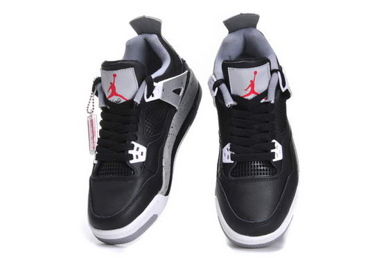 Womens Jordan 4 Shoes black/gray