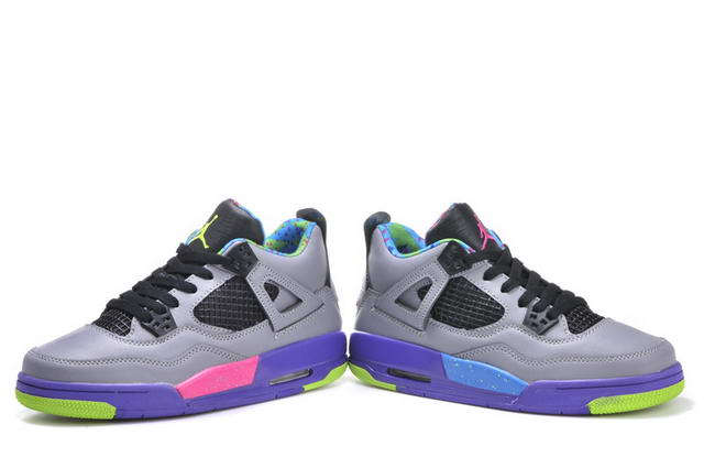 Womens Jordan IV (4) Shoes Cool gray/MIST BLUE UNIVERSITY BLUE