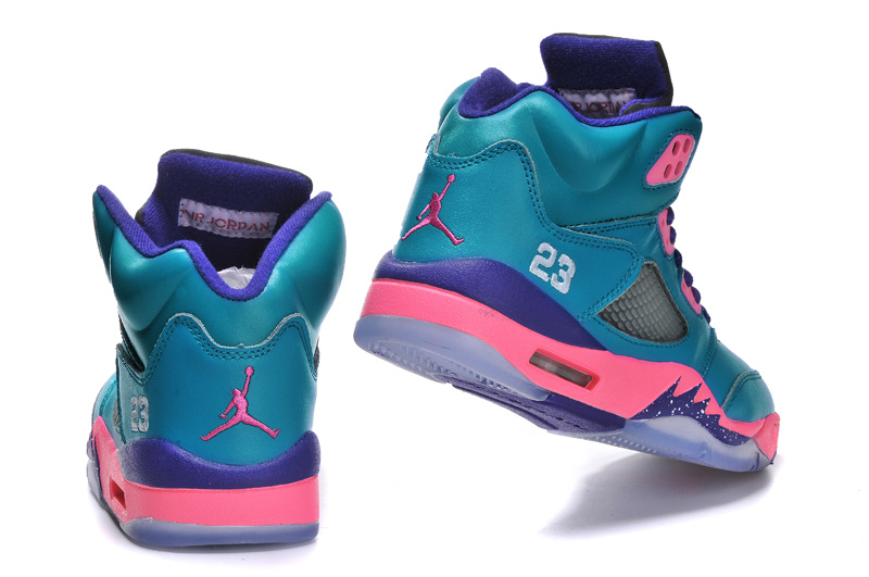 Air Jordan 5 V Retro Tropical Teal GS Shoes Green/Pink