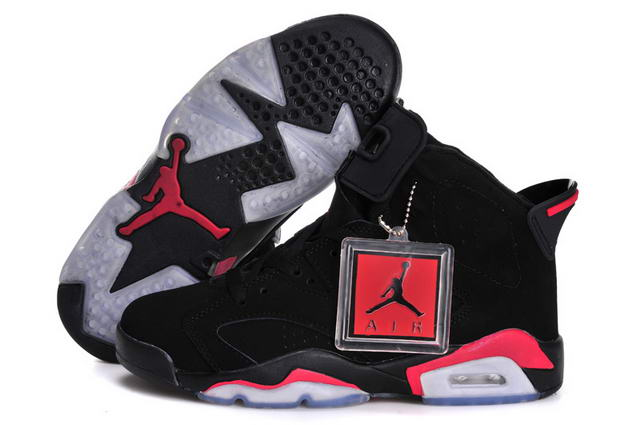 Air Jordan 6 (VI) Retro Women Infrared Shoes black/Infrared - Click Image to Close