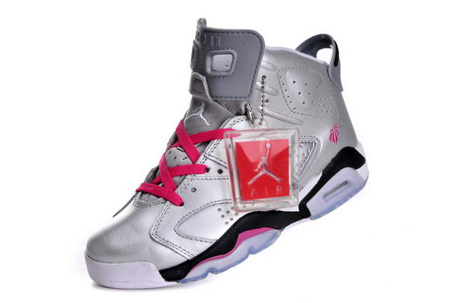 Air Jordan 6 (VI) Retro Women New 2013 Shoes sliver/pink black white