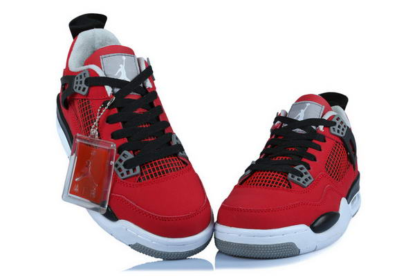Women's Air Jordan 4 Toro Shoes red/black white