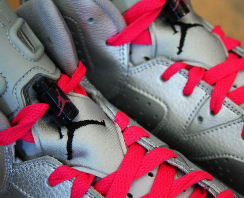 Air Jordan 6 (VI) Retro Valentines Day Shoes Silver/red black