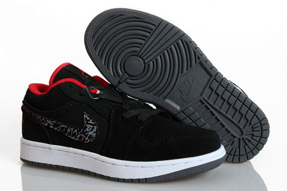 Womens Air Jordan 1 Retro Shoes Black/red