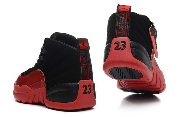 Air Jordan 12 Retro GS Womens Shoes Black/red