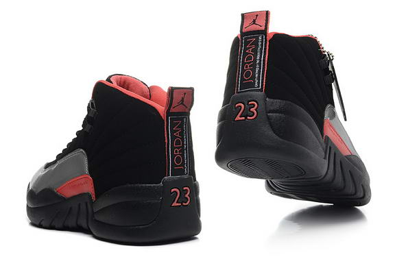 Air Jordan 12 Retro GS Womens Shoes Black/pink