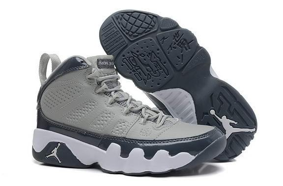 Womens Air Jordan 9 Retro Shoes Gray/blue white