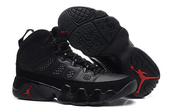 Womens Air Jordan 9 Retro Shoes Black/red