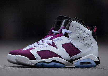 Womens Air Jordan 6 Shoes Purple/white