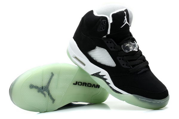 Womens Air Jordan 5 Luminous Shoes Black/white