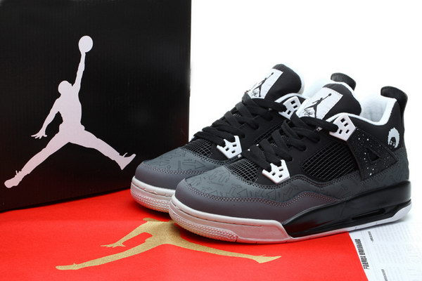 Womens Air Jordan 4 Fear Pack Shoes Black/white