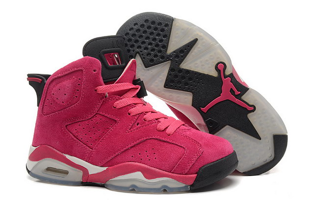 Womens Air Jordan 6 Shoes Pink/black