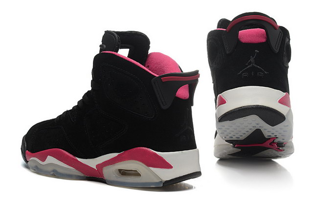 Womens Air Jordan 6 Shoes Black/pink