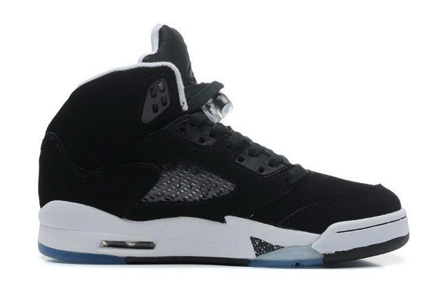 Air Jordan 5 For Womens Shoes Oreo/black white
