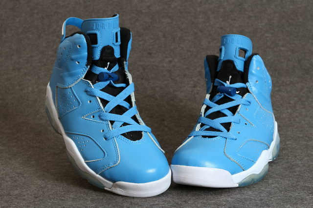 Jordan 6 for Womens Shoes blue/white black