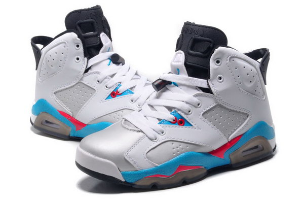 Jordan 6 for Womens Shoes white/blue red black