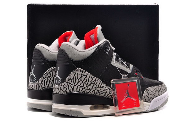 Jordan 3 For Womens Shoes Black/Cement grey