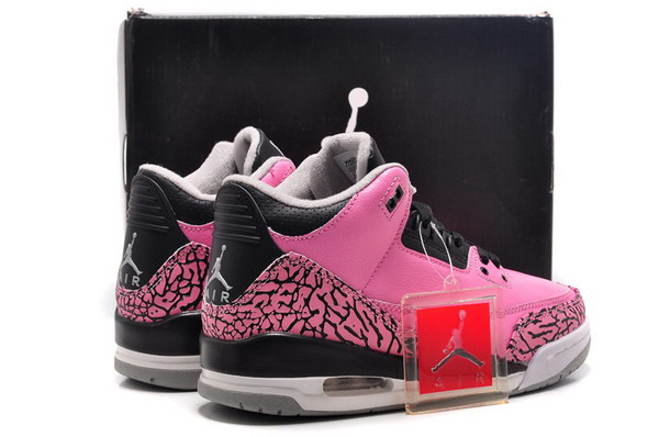 Jordan 3 For Womens Shoes Pink/black cement