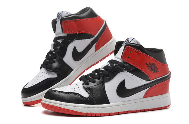 Jordan 1 Girls Shoes red/black/white