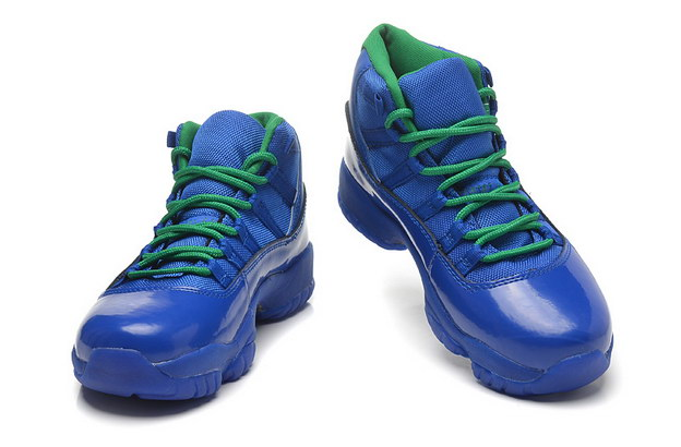 Womens Air Jordan 11 GS Shoes Real Blue