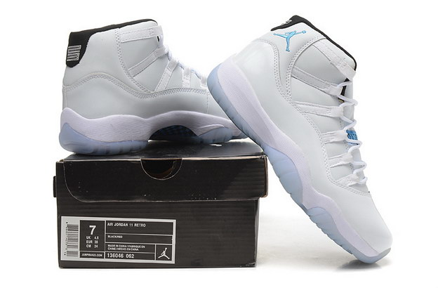 Womens Air Jordan 11 GS Shoes White/Legend blue
