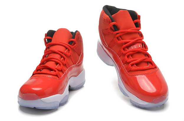 Womens Air Jordan 11 GS Shoes Red/white