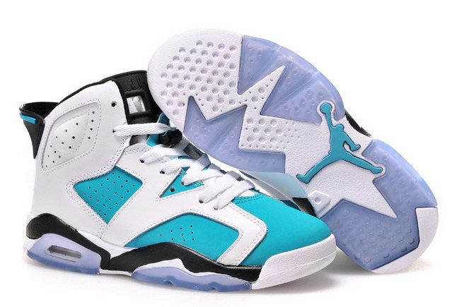 Air Jordan 6 For Womens Shoes Blue/white