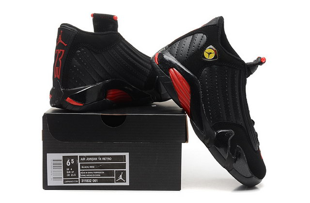 WMNS Air Jordan 14 Shoes Black/red yellow