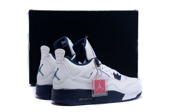 Air Jordan 4 Womens Shoes Colombia/white blue