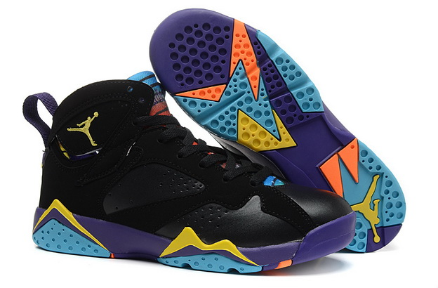 Air Jordan 7 GS Bugs Bunny Shoes Black/yellow purple