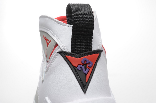 Air Jordan 7 GS hare Shoes White/grey red