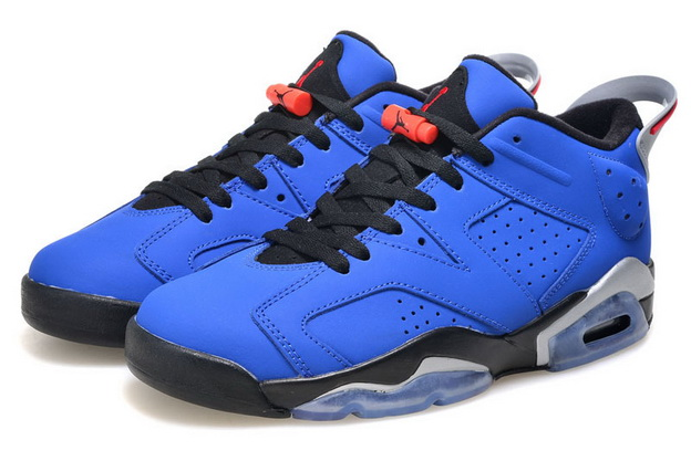 Air Jordan 6 Low GS Shoes Real blue/black