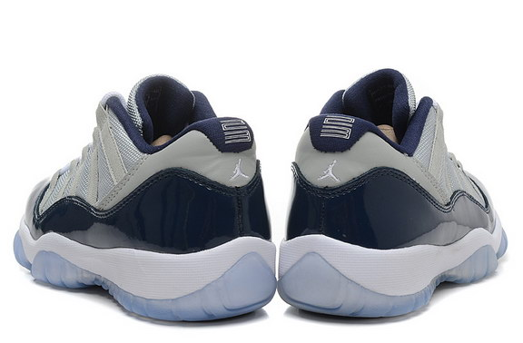 Air Jordan 11 Low GEORGETOWN GS Shoes White/blue