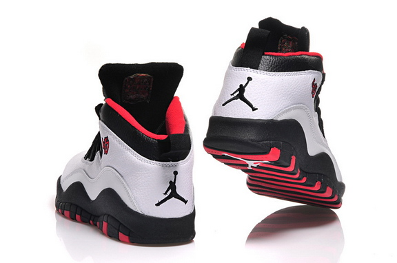 Womens Air Jordan 10 Shoes White/Black Red