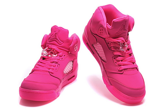Womens Jordan 5 Retro Shoes Pink - Click Image to Close
