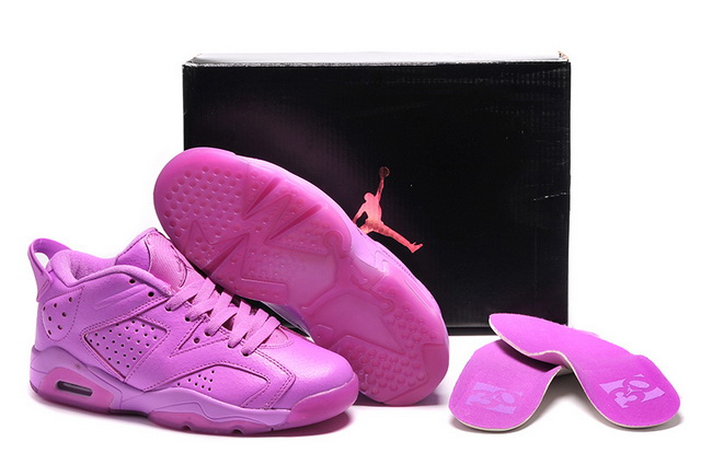 Womens Air Jordan 6 Shoes All Pink
