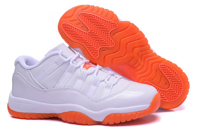 Womens Air Jordan 11 Shoes White/orange