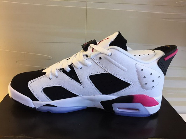 Womens Air Jordan 6 Retro Shoes White/Black red
