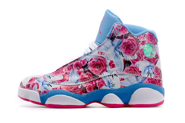 Womens Jordan 13 Retro Shoes Red/blue white