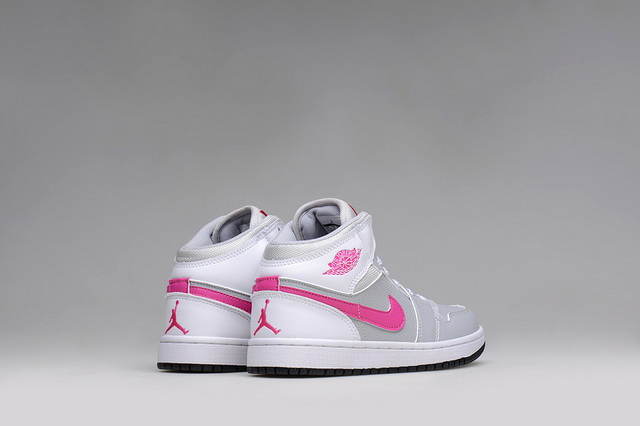 Womens Air Jordan I Shoes Pink/grey white