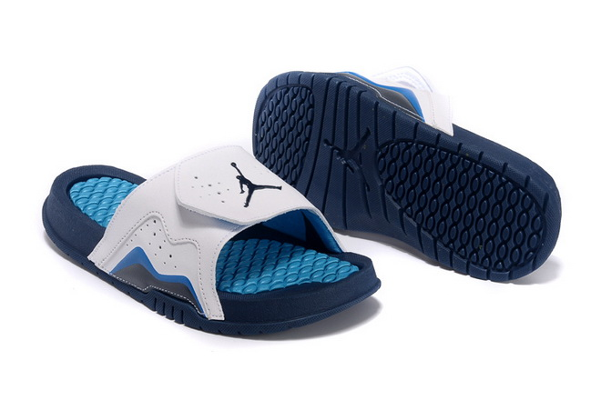 Womens Jordan Hydro VII Shoes White/blue