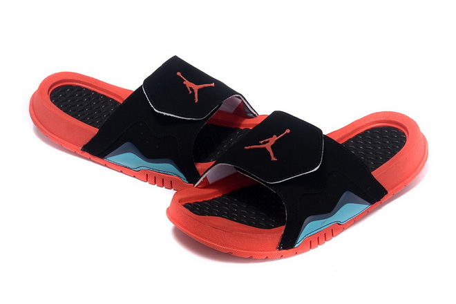 Womens Jordan Hydro VII Shoes Black/blue red