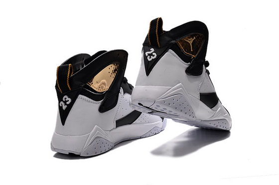 Air Jordan 7 Womens Shoes White/gold black