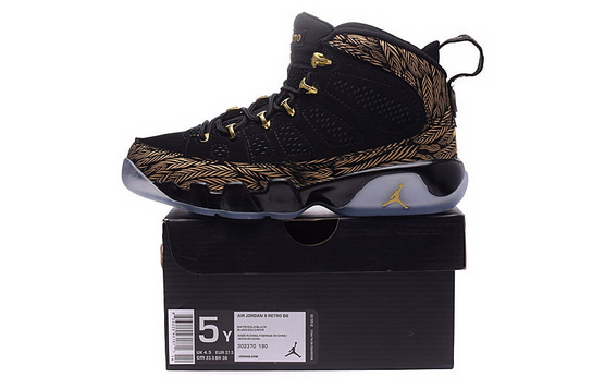 Women's Air Jordan 9 Shoes Black/yellow