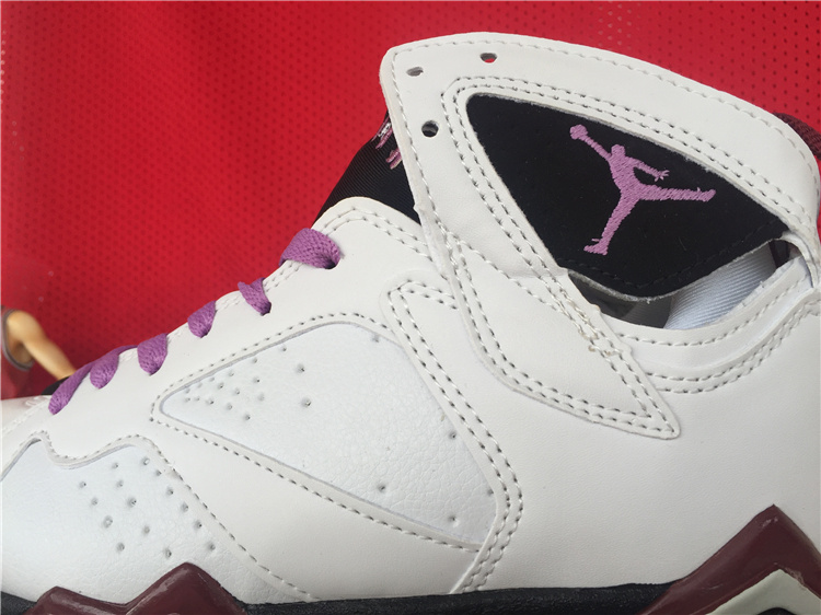 "Womens Air Jordan 7 ""Fuchsia Glow"" Shoes White/purple black"