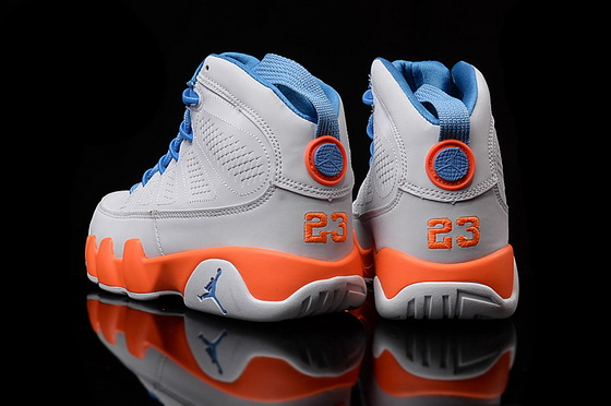 "Womens Air Jordan 9 ""fontay montana"" Shoes White/blue orange"