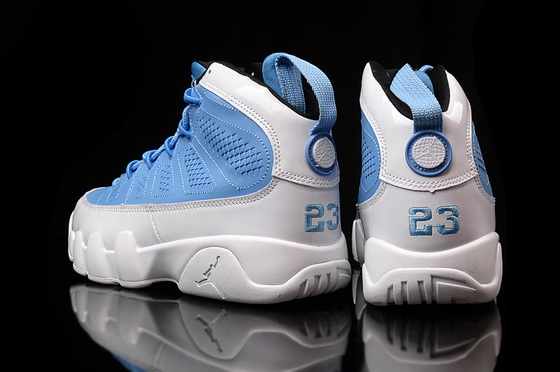 "Womens Air Jordan 9 ""for the love of the game"" Shoes Blue/white"