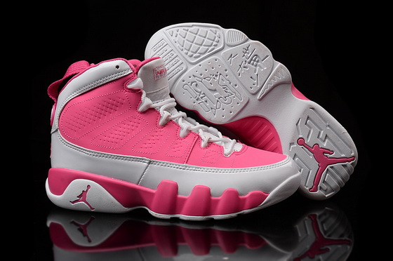 Women's Air Jordan 9 Shoes Pink/white